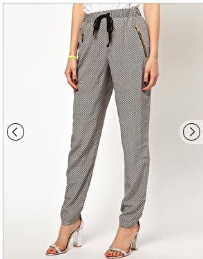 ASOS Peg Trousers in Tile Print