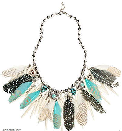 Feather statement necklace from River Island
