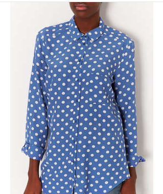 Spot Print Shirt - Shirts - Tops - Clothing - Topshop