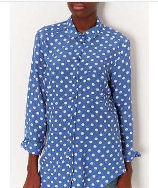 Spot Print Shirt - Shirts - Tops - Clothing - Topshop