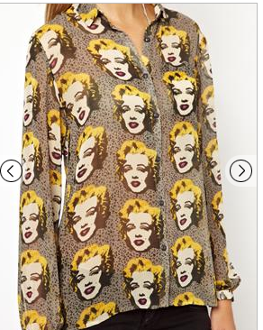 Pepe Jeans Andy Warhol Marilyn Design shirt from Asos