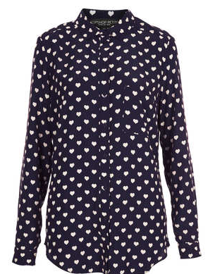 Petite Heart Print Shirt - New In This Week - New In - Topshop