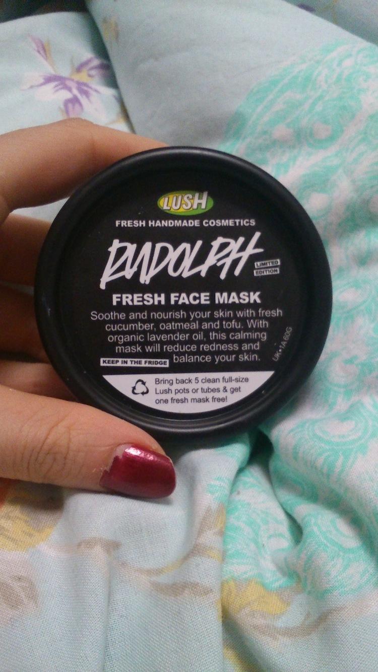 lush rudolf face mask
