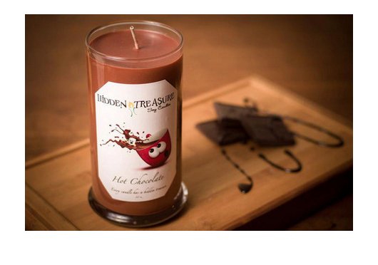 Hot Chocolate Treasure Candle
