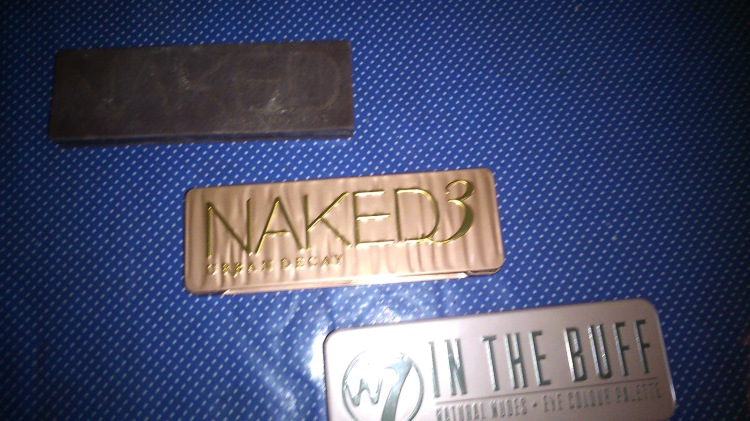 w7 In the buff palette and Urban Decay Naked palettes