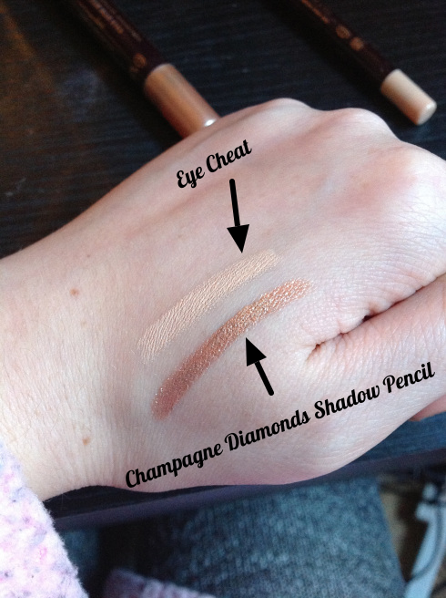swatch of charlotte tilbury eye products edited