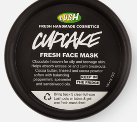Cupcake fresh face mask from Lush