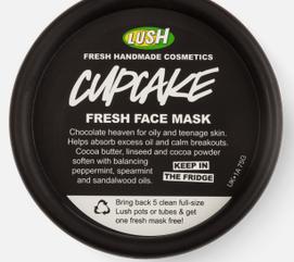 Cupcake fresh face mask from Lush