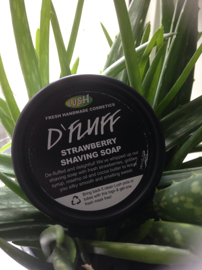 Lush D'Fluff shaving soap review